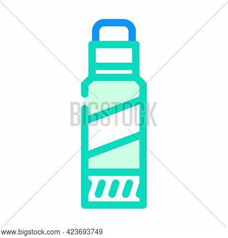Glue Stick Stationery Color Icon Vector. Glue Stick Stationery Sign. Isolated Symbol Illustration