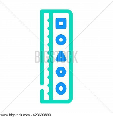 Roller Stationery Tool Color Icon Vector. Roller Stationery Tool Sign. Isolated Symbol Illustration