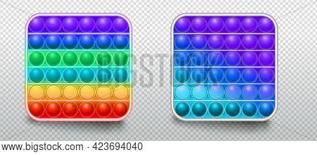 Antistress Trendy Toys Fidget Sensory Pop It And Simple Dimple. Colorful Silicone Bubbles. Fashion K