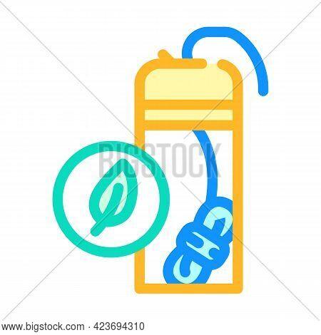Dental Floss Zero Waste Color Icon Vector. Dental Floss Zero Waste Sign. Isolated Symbol Illustratio
