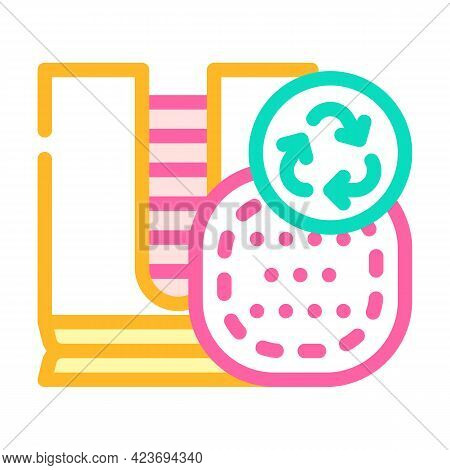 Reusable Make-up Removal Pads Color Icon Vector. Reusable Make-up Removal Pads Sign. Isolated Symbol