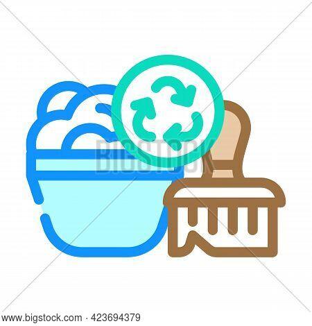 Soap Dispenser Zero Waste Color Icon Vector. Soap Dispenser Zero Waste Sign. Isolated Symbol Illustr