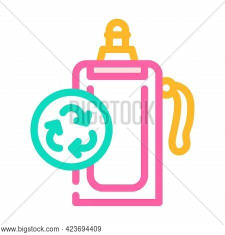 Soft Water Bottle Zero Waste Color Icon Vector. Soft Water Bottle Zero Waste Sign. Isolated Symbol I