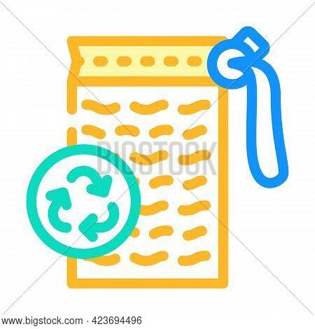 Sponge Zero Waste Color Icon Vector. Sponge Zero Waste Sign. Isolated Symbol Illustration