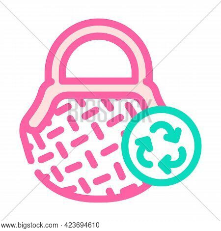 Bag Zero Waste Color Icon Vector. Bag Zero Waste Sign. Isolated Symbol Illustration