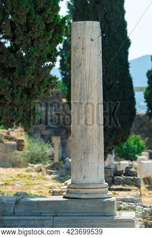 Ancient Greek Ruins, Columns, Building. Athens, Greece.