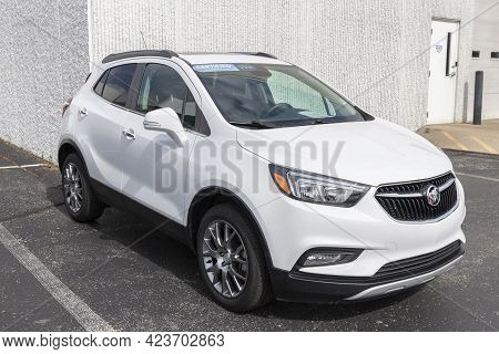 Kokomo - Circa June 2021: Used Buick Encore On Display. With Current Supply Issues, Buick Is Relying
