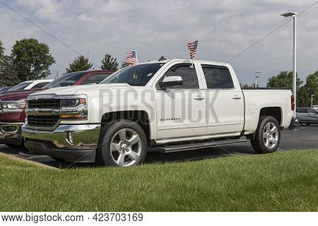 Kokomo - Circa June 2021: Used Chevrolet Silverado Display. With Current Supply Issues, Chevy Is Rel