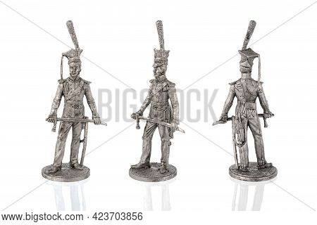 A Miniature Figure Of A Tin Soldier Of The Revolutionary
