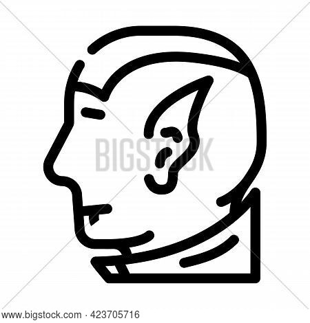 Vampires Fear Line Icon Vector. Vampires Fear Sign. Isolated Contour Symbol Black Illustration