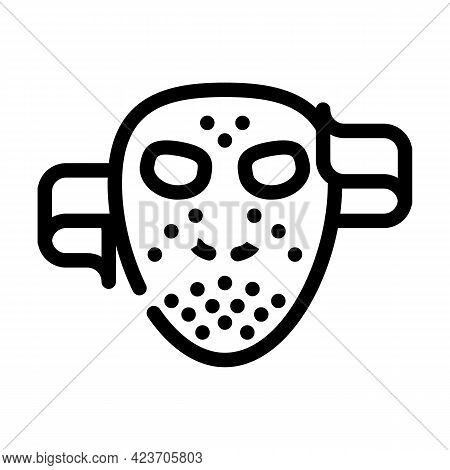 Mask Fear Line Icon Vector. Mask Fear Sign. Isolated Contour Symbol Black Illustration