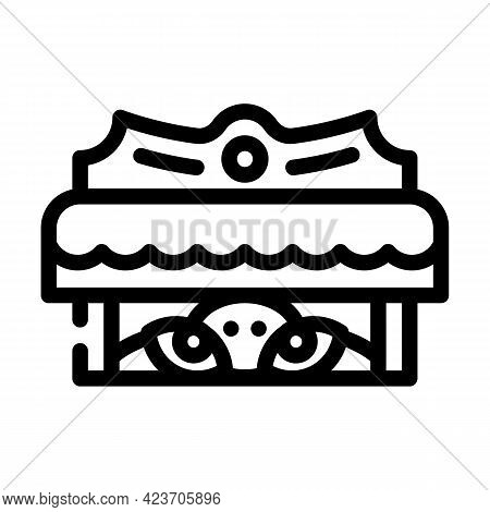 Monster Under Bed Fear Line Icon Vector. Monster Under Bed Fear Sign. Isolated Contour Symbol Black