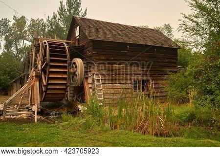 Keremeos, British Columbia, Canada - August 23, 2018. Historic Grist Mill Keremeos. The Historic Gri