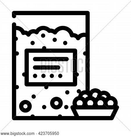 Tapioca Gluten Free Line Icon Vector. Tapioca Gluten Free Sign. Isolated Contour Symbol Black Illust