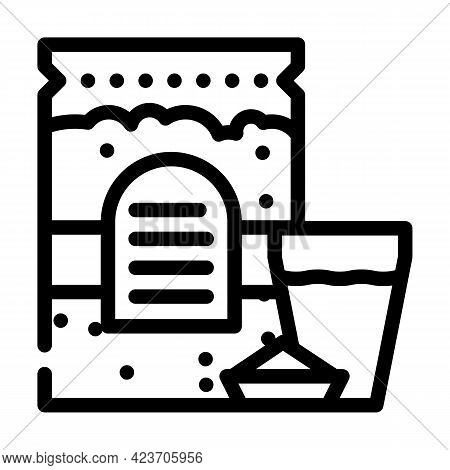 Oats And Milk Gluten Free Line Icon Vector. Oats And Milk Gluten Free Sign. Isolated Contour Symbol