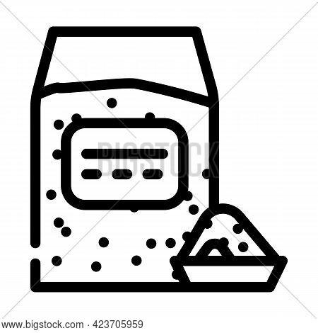 Millet Gluten Free Line Icon Vector. Millet Gluten Free Sign. Isolated Contour Symbol Black Illustra