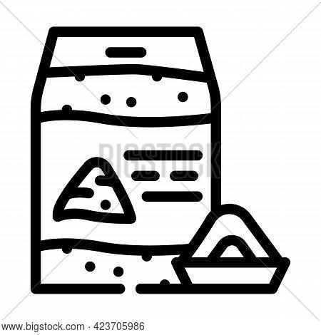 Nut Flour Gluten Free Line Icon Vector. Nut Flour Gluten Free Sign. Isolated Contour Symbol Black Il