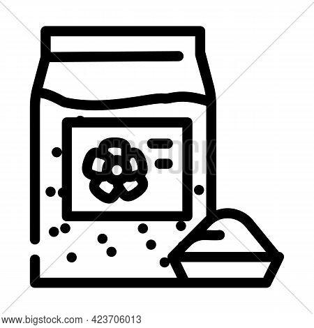 Flax Gluten Free Line Icon Vector. Flax Gluten Free Sign. Isolated Contour Symbol Black Illustration