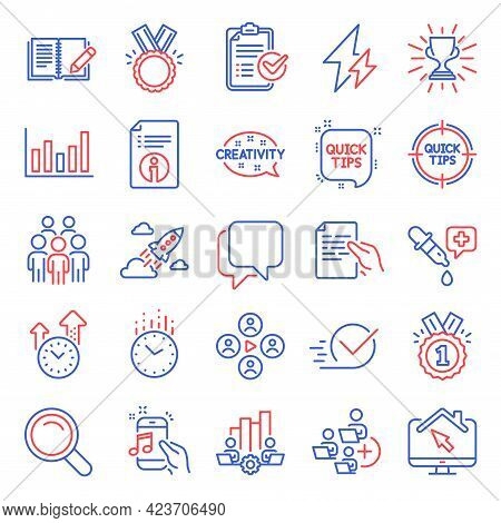 Education Icons Set. Included Icon As Honor, Video Conference, Teamwork Chart Signs. Chemistry Pipet