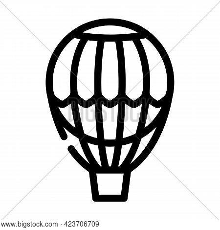 Hydrogen Weather Balloon Line Icon Vector. Hydrogen Weather Balloon Sign. Isolated Contour Symbol Bl