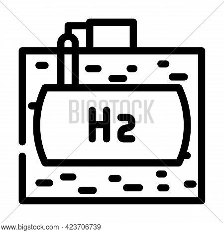 Underground Storage Hydrogen Line Icon Vector. Underground Storage Hydrogen Sign. Isolated Contour S