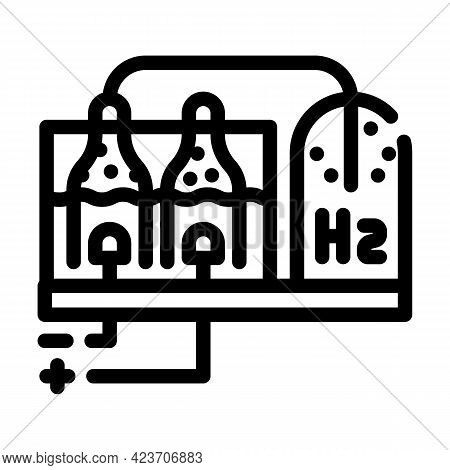 Hydrogen Production Process Line Icon Vector. Hydrogen Production Process Sign. Isolated Contour Sym