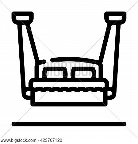 Hanging Bed Furniture Line Icon Vector. Hanging Bed Furniture Sign. Isolated Contour Symbol Black Il