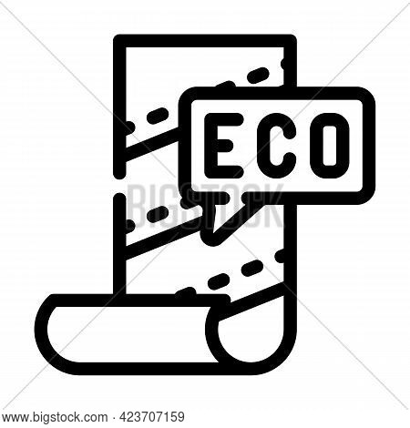 Eco Material For Renovation Line Icon Vector. Eco Material For Renovation Sign. Isolated Contour Sym
