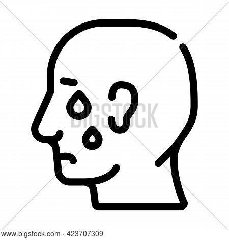 Depression Problem Line Icon Vector. Depression Problem Sign. Isolated Contour Symbol Black Illustra