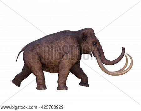 Ice Age Columbian Mammoth 3d Illustration - During The Ice Age Of North America The Columbian Mammot