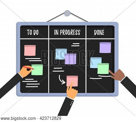 Concept Agile Project Plan, Team People Work.