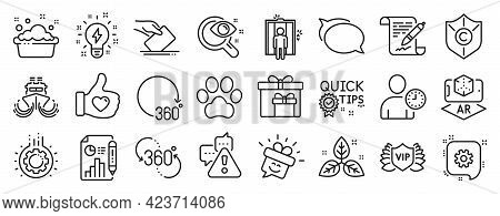 Set Of Business Icons, Such As Report Document, Ship, Warning Icons. Gear, Cogwheel, Voting Ballot S