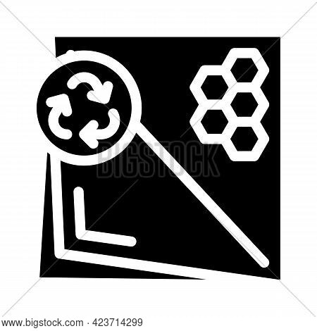 Beeswax Paper Zero Waste Glyph Icon Vector. Beeswax Paper Zero Waste Sign. Isolated Contour Symbol B