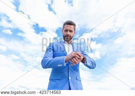 Punctuality. Entrepreneur. Male Fashion Accessory. Boss In Hand Watch. Deadline