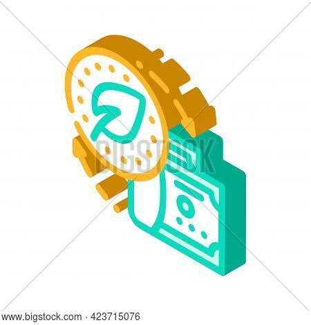 Exchange Money To Chia Cryptocurrency Isometric Icon Vector. Exchange Money To Chia Cryptocurrency S