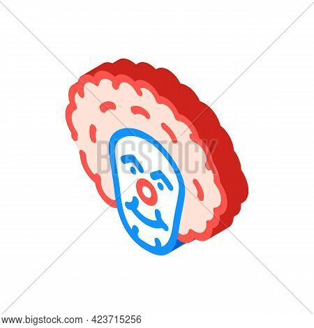 Clown Fear Isometric Icon Vector. Clown Fear Sign. Isolated Symbol Illustration