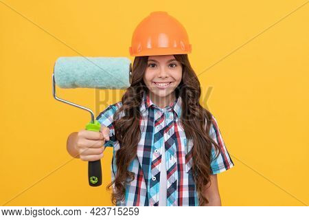 Roller Brush For Decoration. Kid Education. Renovation Work. Improve Your Childhood.