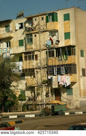 Cairo, Egypt, November 27, 2007: The Rundown And Impoverished Living Conditions In Cairo, And Throug