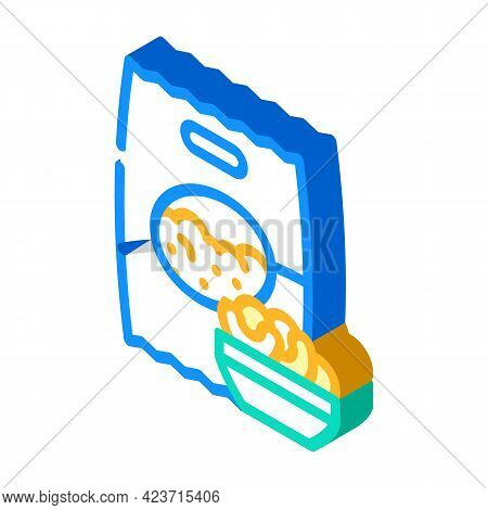 Soy Gluten Free Isometric Icon Vector. Soy Gluten Free Sign. Isolated Symbol Illustration