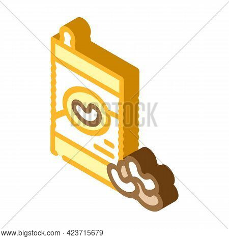 Beans Gluten Free Isometric Icon Vector. Beans Gluten Free Sign. Isolated Symbol Illustration