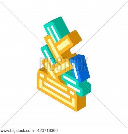 Design Shelf Furniture Isometric Icon Vector. Design Shelf Furniture Sign. Isolated Symbol Illustrat