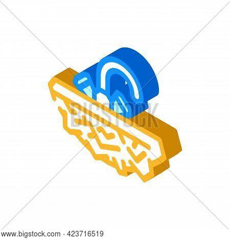Solid Stone Washbasin Isometric Icon Vector. Solid Stone Washbasin Sign. Isolated Symbol Illustratio