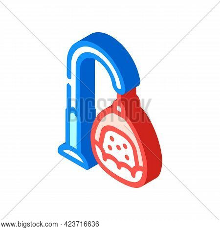 Hanging Chair Design Furniture Isometric Icon Vector. Hanging Chair Design Furniture Sign. Isolated