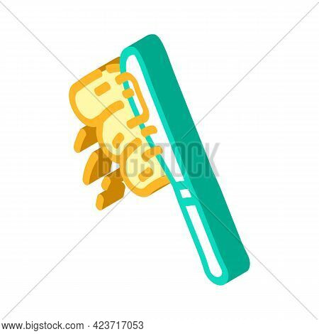 Knife With Peanut Butter Isometric Icon Vector. Knife With Peanut Butter Sign. Isolated Symbol Illus
