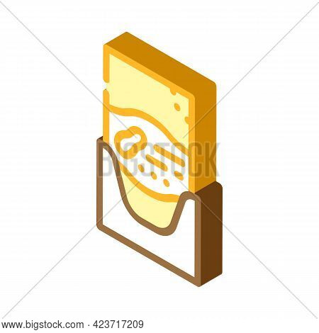 Sachet Bag With Peanut Butter Isometric Icon Vector. Sachet Bag With Peanut Butter Sign. Isolated Sy