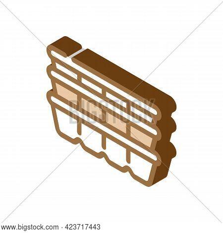Cassette Peat Isometric Icon Vector. Cassette Peat Sign. Isolated Symbol Illustration
