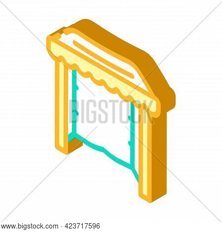 Tent From Plastic Material Isometric Icon Vector. Tent From Plastic Material Sign. Isolated Symbol I