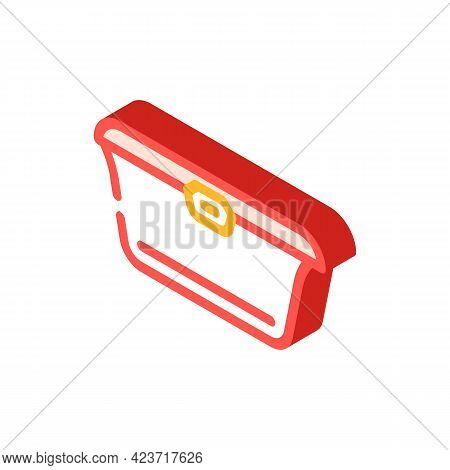 Food Packaging Plastic Container Isometric Icon Vector. Food Packaging Plastic Container Sign. Isola