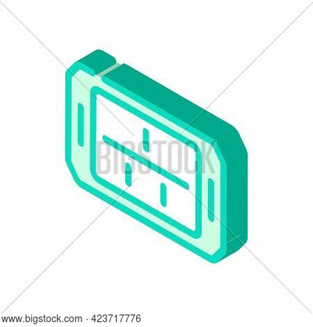 Tray Canteen Isometric Icon Vector. Tray Canteen Sign. Isolated Symbol Illustration