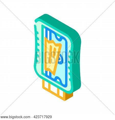 Pencil Sharpener Stationery Isometric Icon Vector. Pencil Sharpener Stationery Sign. Isolated Symbol